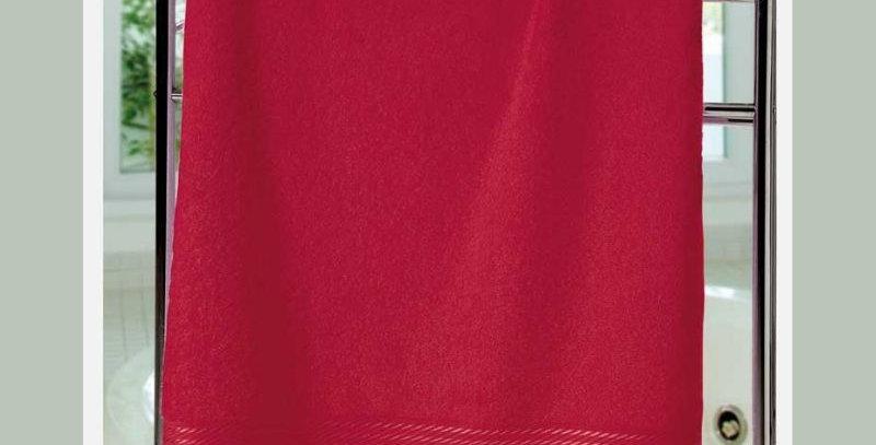 Toalha Banho Felpudo Prisma Liso Vermelho | Dohler