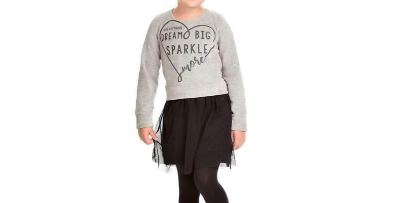 Vestido Infantil Plush com Tule - Hrradinhos