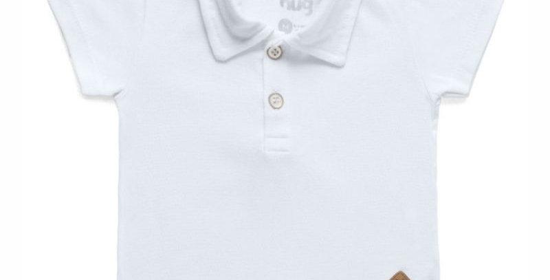 Camiseta Polo Infantil Menino Branco | Hug Baby