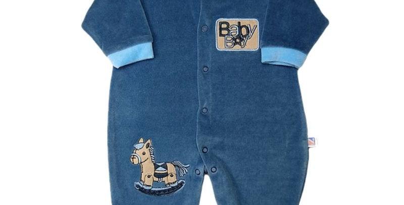 Macacão Plush Baby Boy Azul - Nanocute
