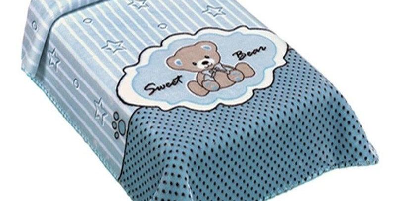 Cobertor Exclusive Estampado Sweet Azul Colibri