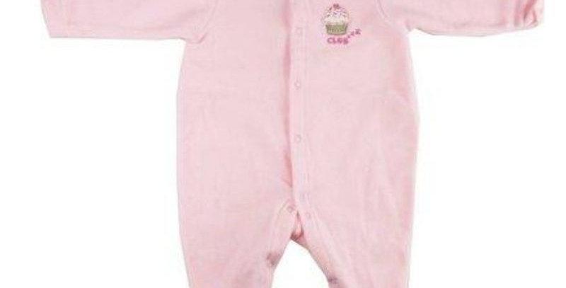 Pijama Soft Macacão Bebê Rosa - Piu Piu