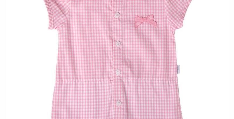 Body Camisa Manga Curta Xadrez Menina   Piu Piu