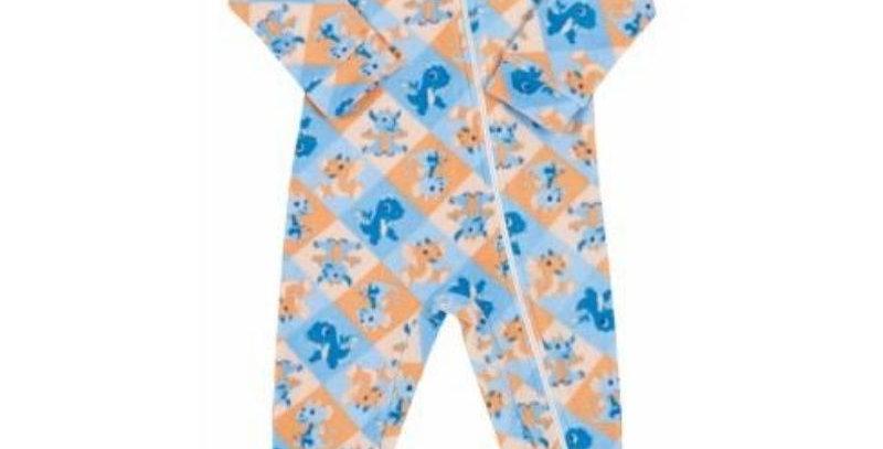 Pijama Macacão Bebê Soft Dinossauro - Vrasalon
