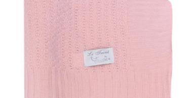 Manta Le Tricot Colibri Hipoalergênica - Rosa