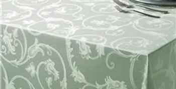 Toalha de Mesa Jacquard Clean Madri Quadrada 1,60x1,60m Verde - Kacyuma