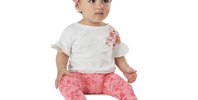 Conjunto Blusa e Calça Legging Bebê Coral | Up Baby