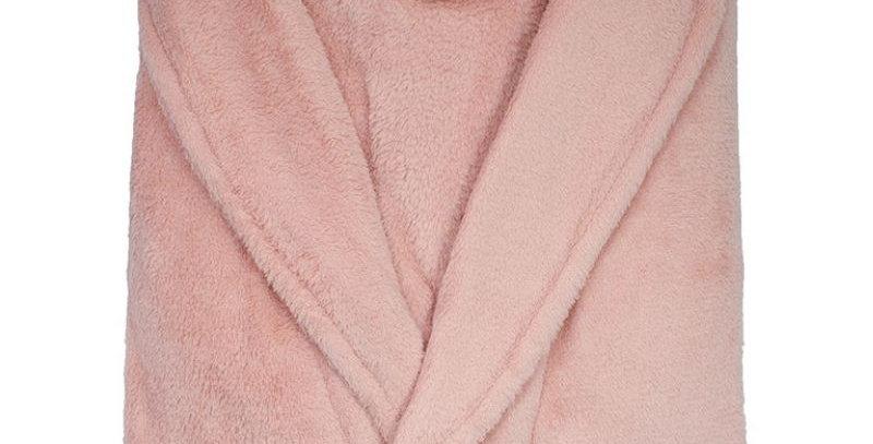 Roupão Microfibra Rosa   Camesa