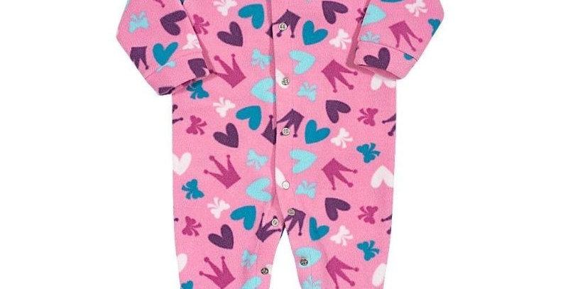 Pijama Soft Bebê Coração Macacão Pink - Tip Top