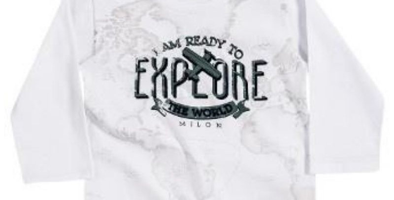 Camiseta Masculina Infantil ml Explore - Milon