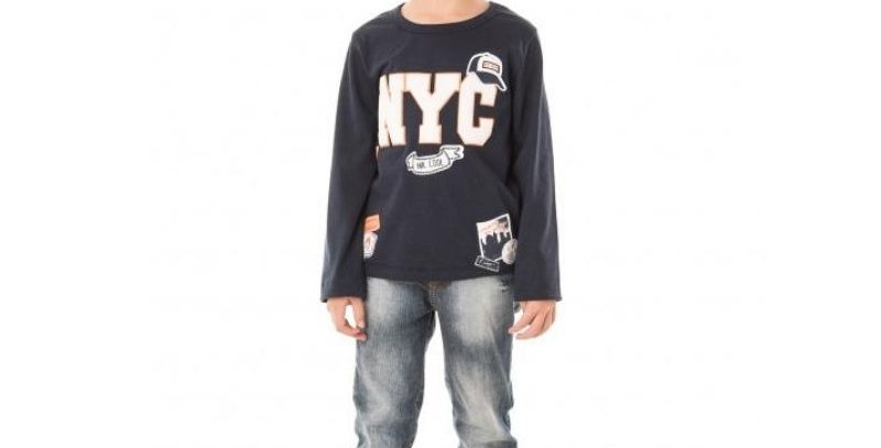 Camiseta Infantil Masculina NYC 80 - By Gus