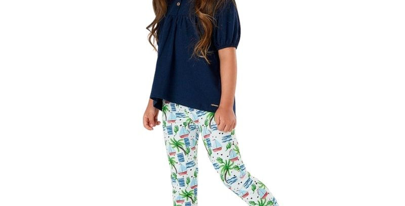 Conjunto Infantil Tropical Chic Azul Up Baby