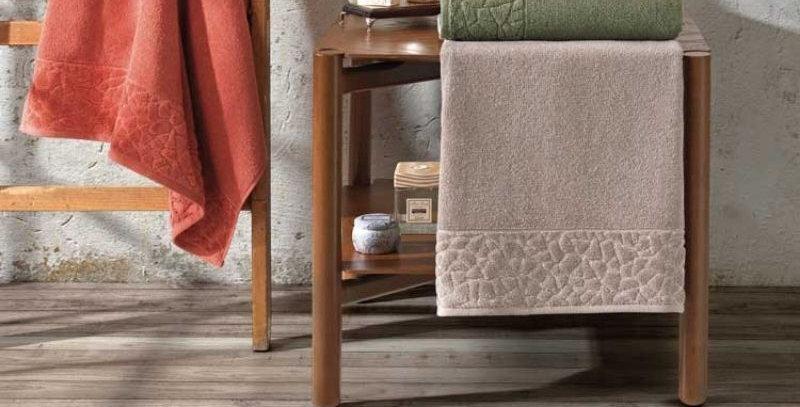 Toalha Rosto Jacquard Confort (FJ-6509) Caqui | Dohler