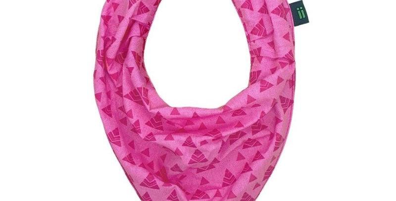 Babador Bandana Gumii Triângulos Rosa