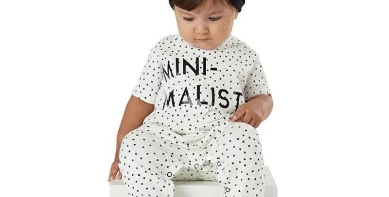 Macacão Kids em cotton Minimalist Cru com faixa | Up Baby