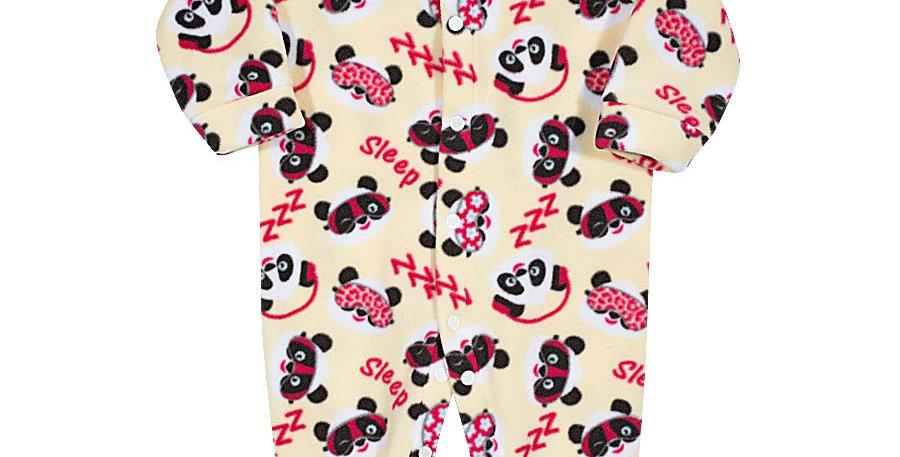 Pijama Soft Bebê Panda Macacão Amarelo - Tip Top