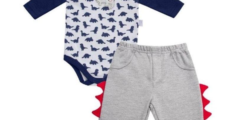 Conjunto Baby Playwear Dino   Piu Piu