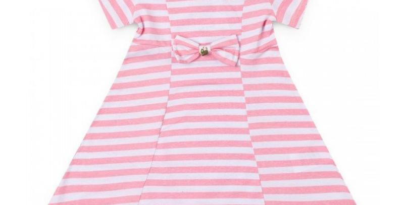 Vestido Infantil Listras Rosa | Hrradinhos