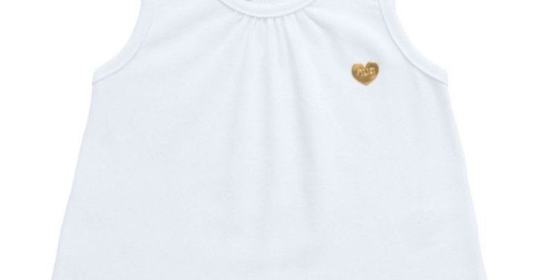 Regata Infantil Menina Branca   Hug Baby