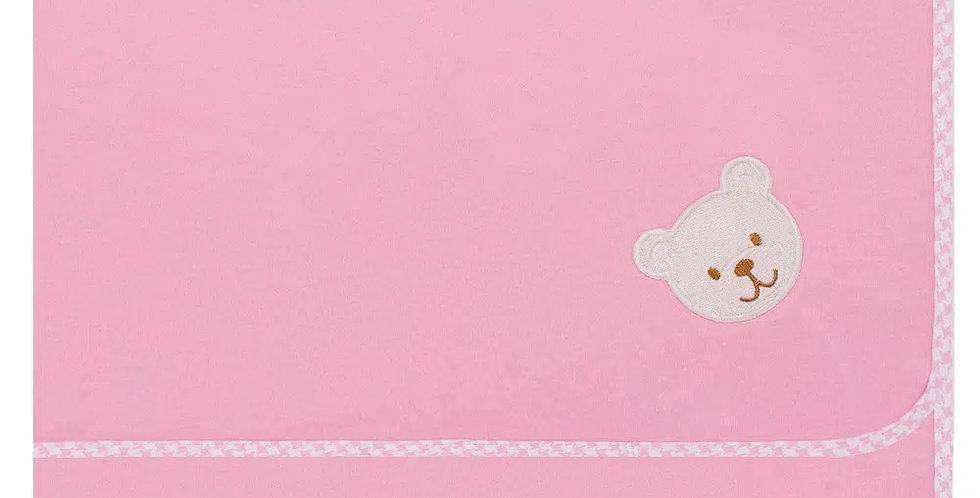 Manta para bebê em suedine Baby Bear Rosa - Hug