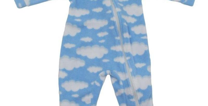 Pijama Soft Infantil Nuvem Macacão Azul - Vrasalon