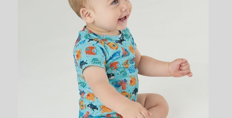 Macaquinho Curto Oceano | Up Baby