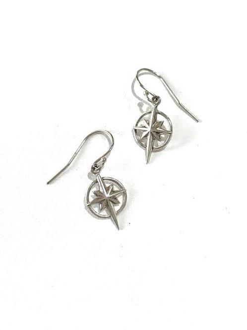 Bethlehem Star Earrings - Sterling Silver