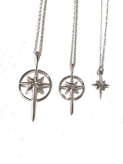 LARGE - Bethlehem Star Necklace (Sterling Silver)
