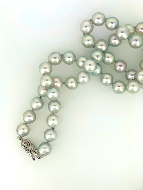Grey Akoya Pearl Necklace