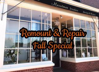 Remount & Repair Fall Special Through September