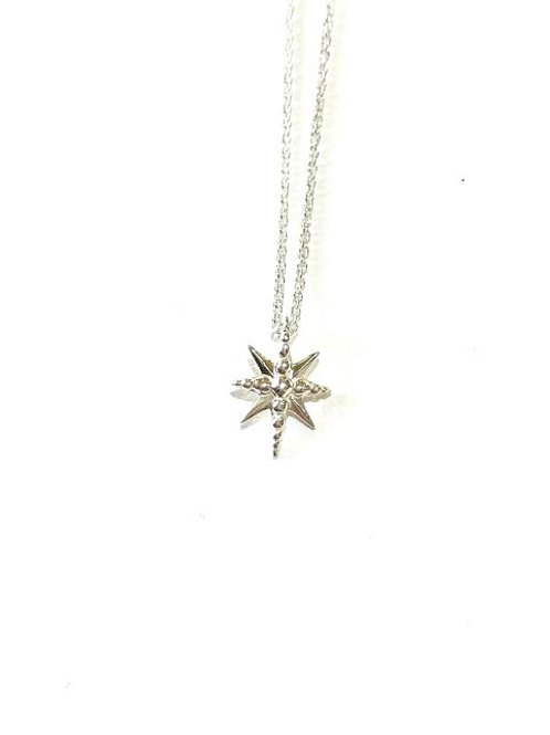 Bethlehem Star Necklace - Small with dots (Sterling Silver)