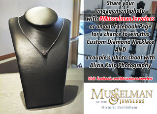 Enter to Win a Diamond Necklace AND Couple's Photo Shoot with #MusselmanJewelers