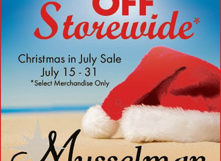 Up to 70% Off During Christmas in July at Musselman Jewelers