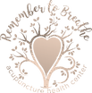 Remember to Breathe logo of  a tree with a heart in the center