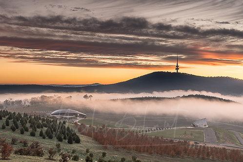 Arbo sunrise fog