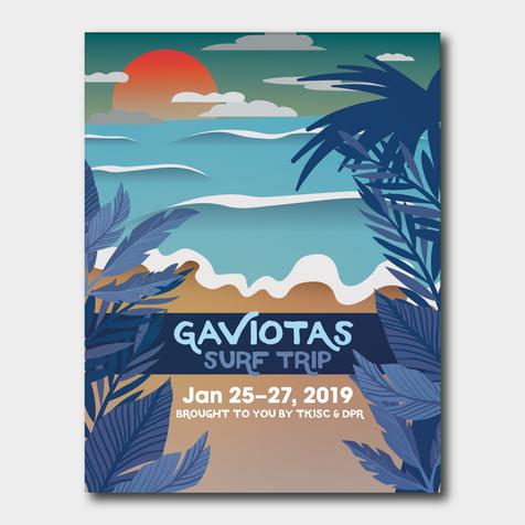 Gaviotas Surf Trip Flyer