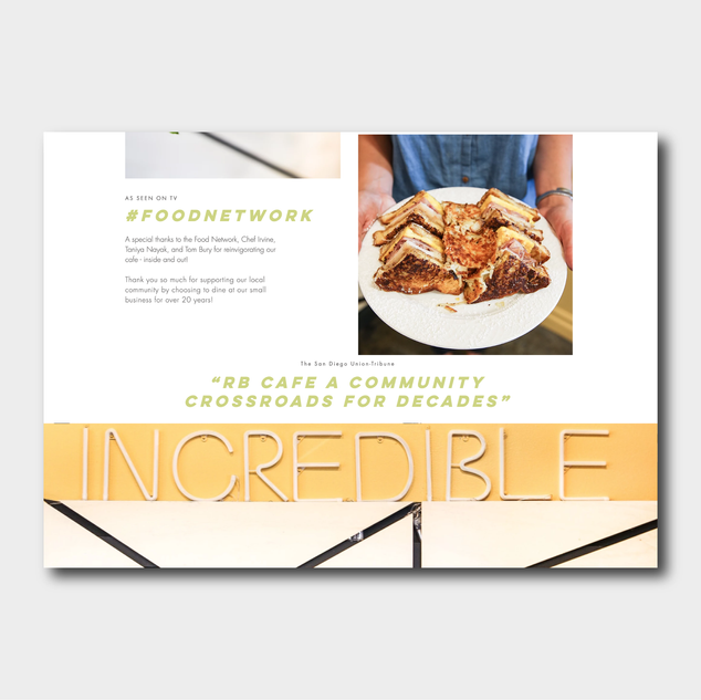The Incredible Cafe Website