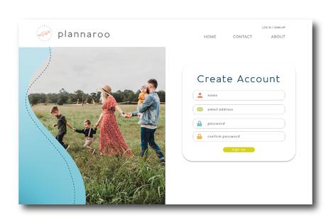 Plannaroo Web Create Account