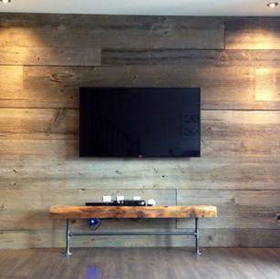 barnboard feature wall