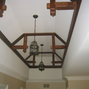 Hand carved ceiling beams