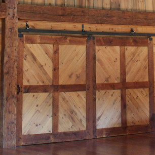custom pine sliding doors