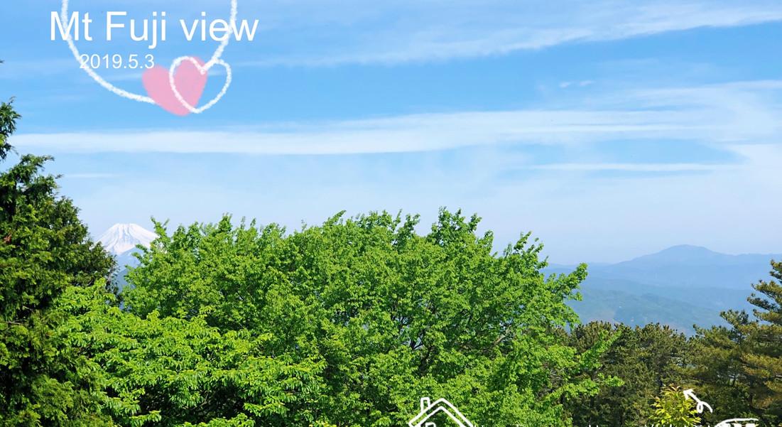 ベランダより富士山@ネオ・リゾートホーム遊方YUKATA 貸別荘・伊豆高原