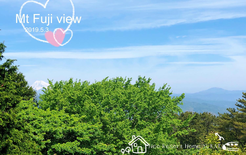 阳台眺望富士山@遊方貸別荘・伊豆高原