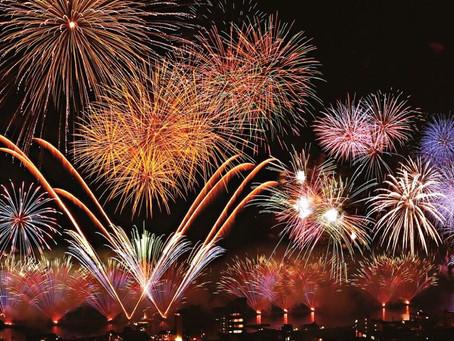 """伊東市では""""平成最後の日""""と""""新元号(令和)最初""""の花火大会を実施予定。(2019年5月1日(水・祝)から新元号令和が始まります。)"""