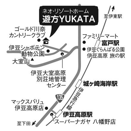 遊方YUKATA 手書きマップ