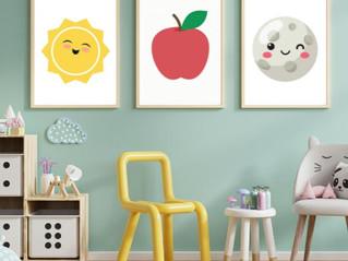 Posters till barnrum - Gratis att skriva ut affisch