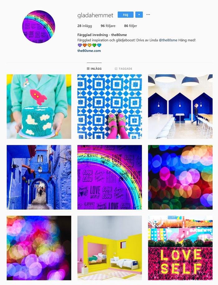 Instagram färgglatt the80sme gladahemmet