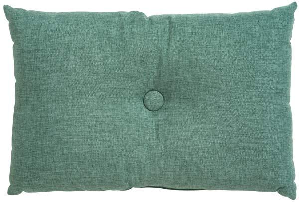 Soffkudde med knapp grön rusta