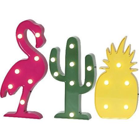 barnrumsbelysning flamingo kaktus ananas