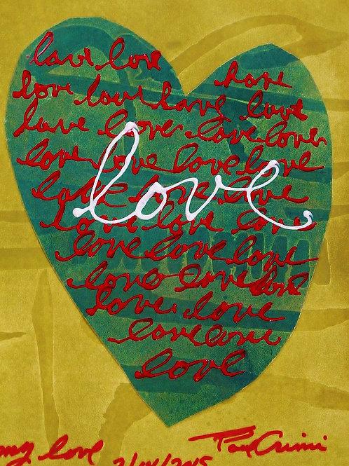 "Grusskarte ""love"" grün"